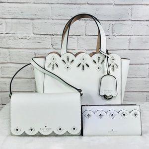 3PCS Kate Spade Mini Mina Satchel Wallet Crossbody